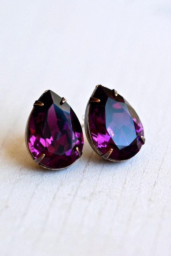 Simple earrings - Amethyst