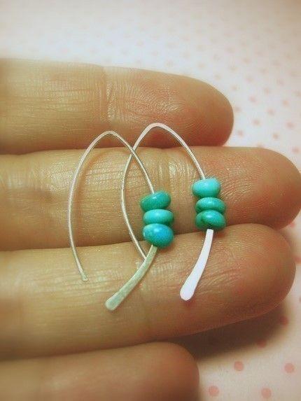 Sterling Turquoise Earring, silver earrings by maryandjane | ♦F&I♦