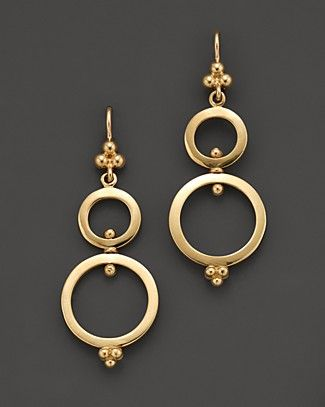 Temple St. Clair 18K Yellow Gold Double Ring Earrings   Bloomingdale's
