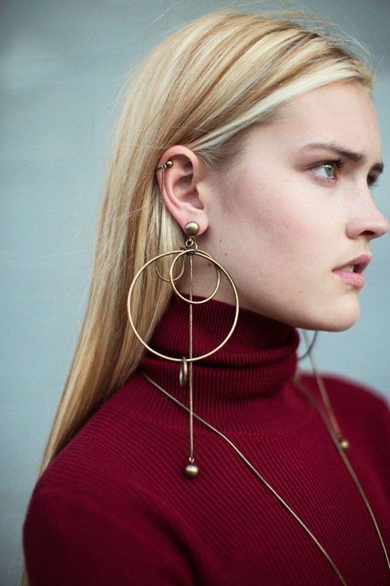 Zimmermann - Brass Suspended Link Earrings | BONA DRAG
