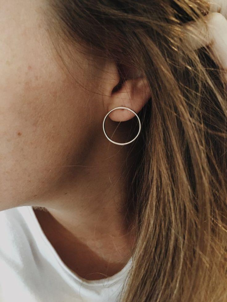 Earrings, Ears, Stud Earrings, Ear Cuff, Studs, Gold, Silver, Piercing, Sterling...