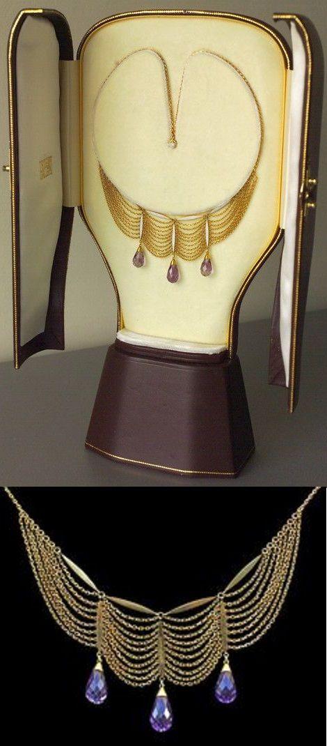 A Jugendstil necklace, by Karl Hermann, German, circa 1900. Gold, enamel and ame...