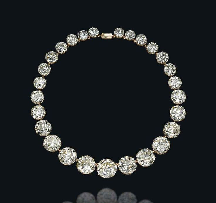 A diamond rivière necklace #christiesjewels