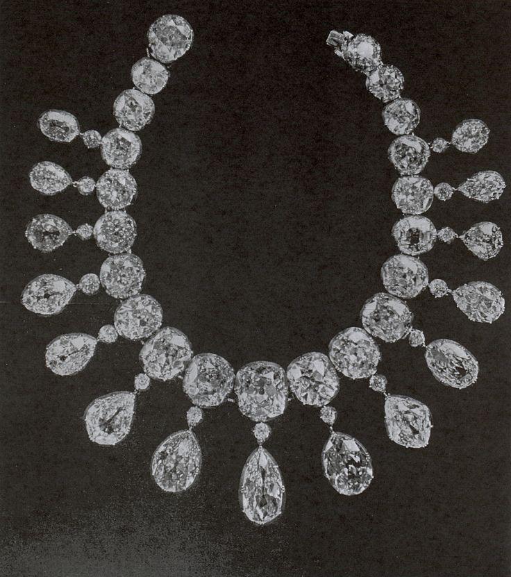 IMPERIAL RUSSIAN DIAMOND RIVIÈRE~,belonged to Empress Maria Feodorovna. Necklac...