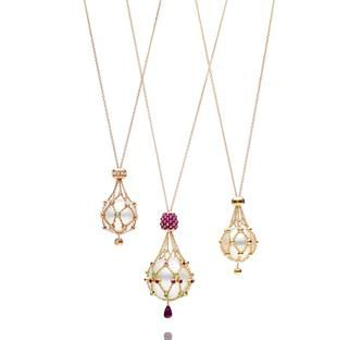 Inspired by the nautical ropes and nets used to harvest wild pearl oysters, the ...