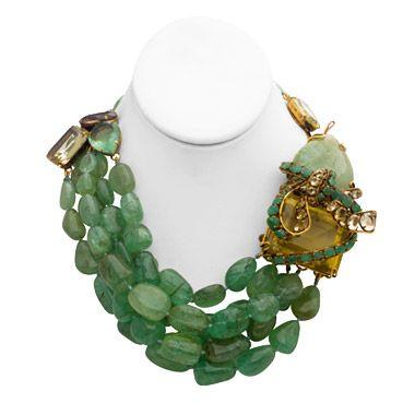 Iradj Moini Emerald necklace.
