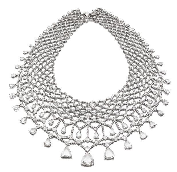 Michelle Ong for Carnet diamond necklace. 110.69 carats of diamonds. Diamonds al...