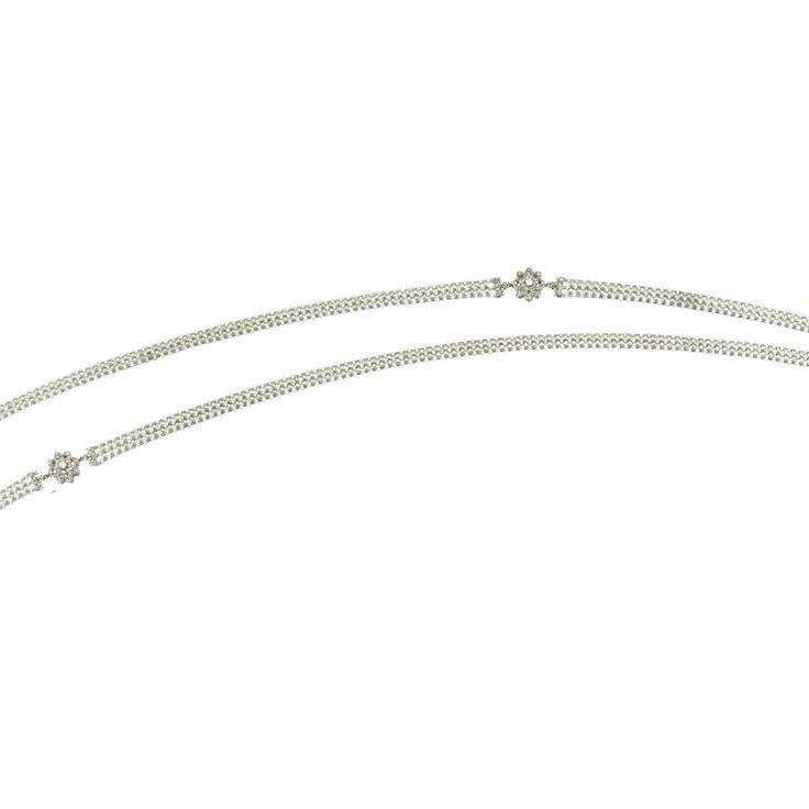 Pearl, diamond and platinum necklace, circa 1920.