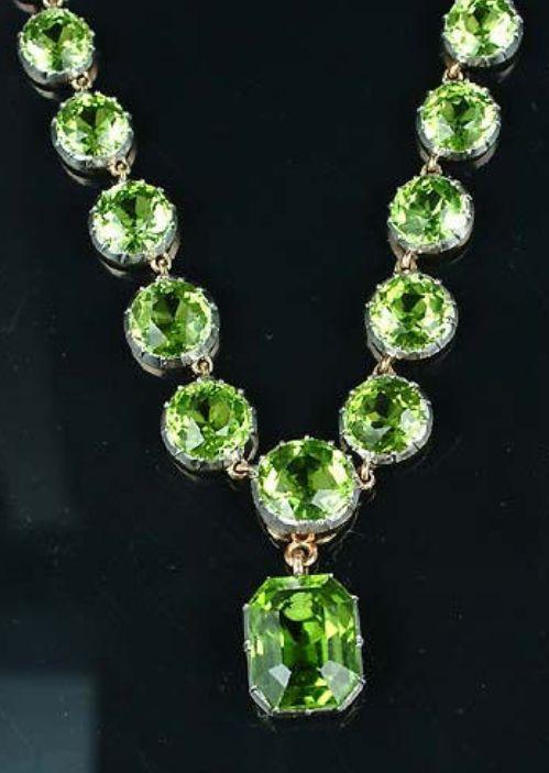 Peridot necklace.