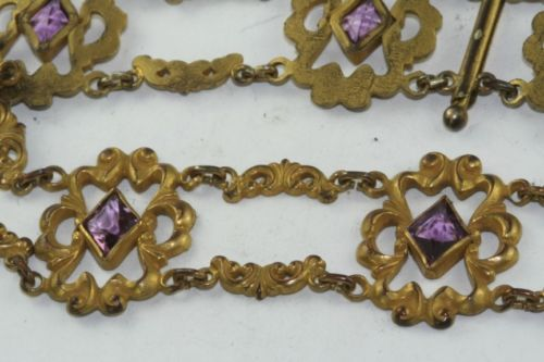 Victorian Antique 1880's Gold Filled Prple Choker Necklace   eBay