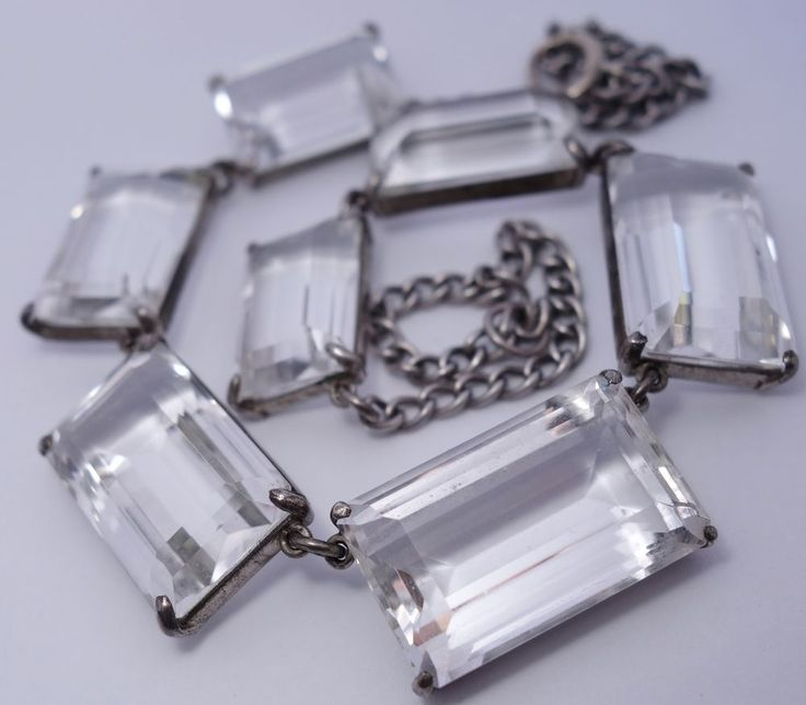 Necklace Collection : Vintage Art Deco Sterling Silver