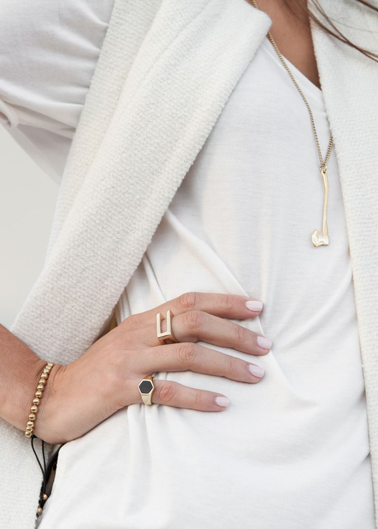 Accessories from Vitaly — sleek, contemporary rings, bracelets and pendants th...