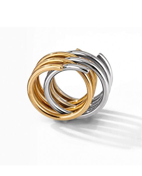La bague Spirale de Dinh Van minimaliste en or et argent
