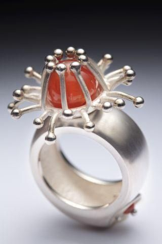 Laurie Dansereau ring Ronni Rittenhouse via gaba luna onto SILVER JEWELRY WITH A...