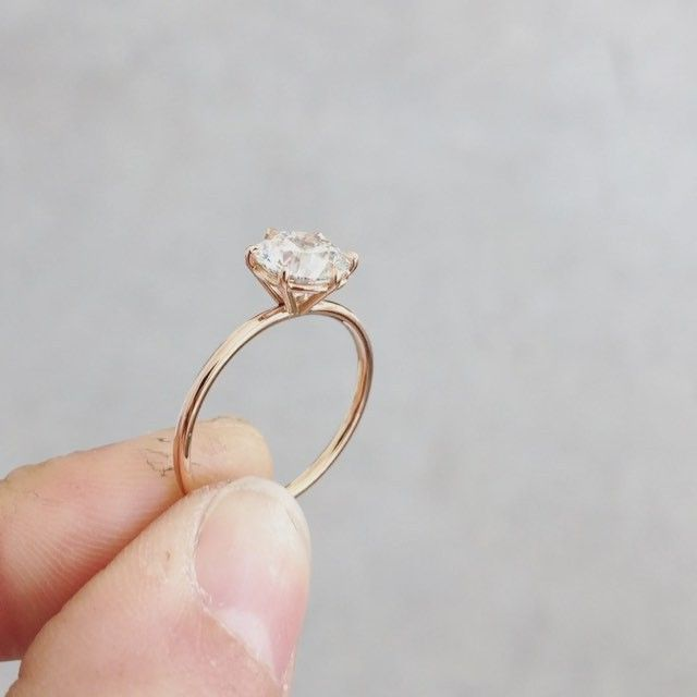 Monday morning sparkle. A 1.3 carat round cut diamond set in rose gold in my sig...