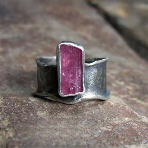 Sofia Gladysz - ring with pink tourmaline / 925 silver