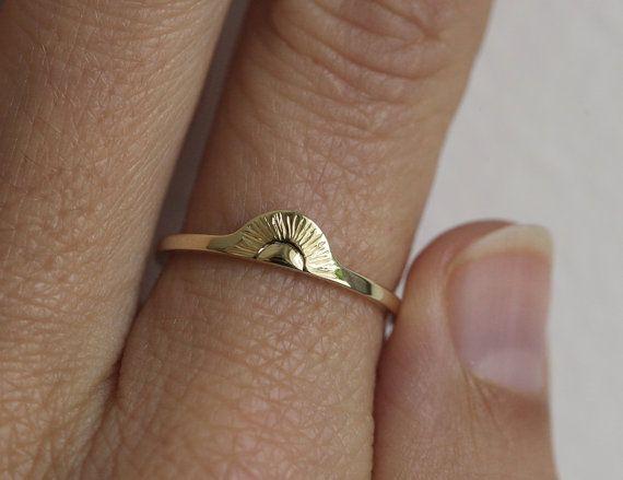 Rings Ideas : Sunrise Ring Gold Sun Ring Gold Boho Ring Gold by