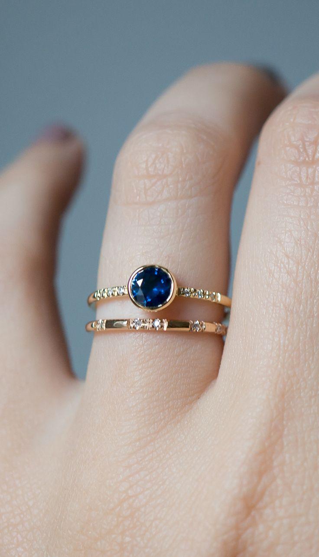 a  Classic deep blue sapphire