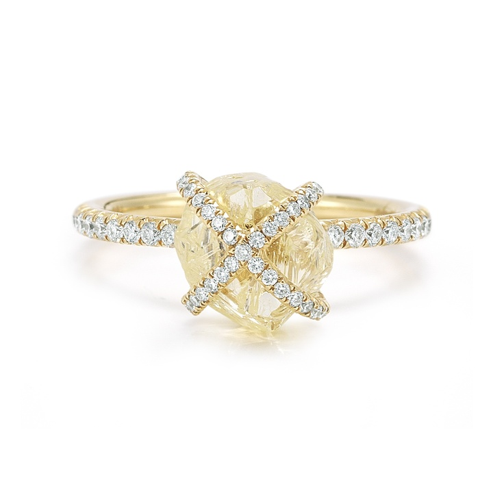 Beautiful engagement ring. Diamond in the Rough ring from the