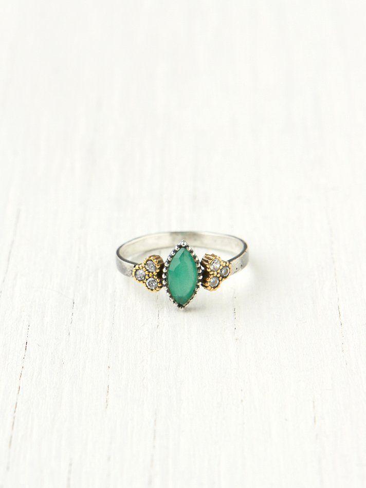 Bora Diamond Stone Ring at Free People Clothing Boutique