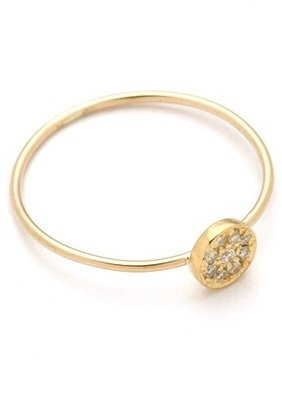 Jennifer Meyer Gold Circle Diamond Ring