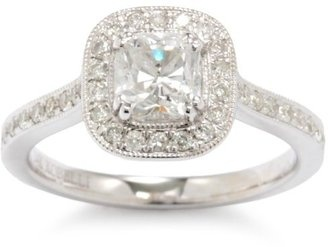 Kobelli Cushion Cut Diamond Engagement Ring