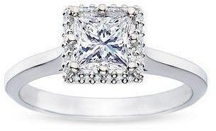 TACORI Platinum Diamond Semimount  Princess Cut DIamond