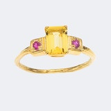 Yello and pInk - I've never seen anything like this ring!Golden Beryl Emeral...