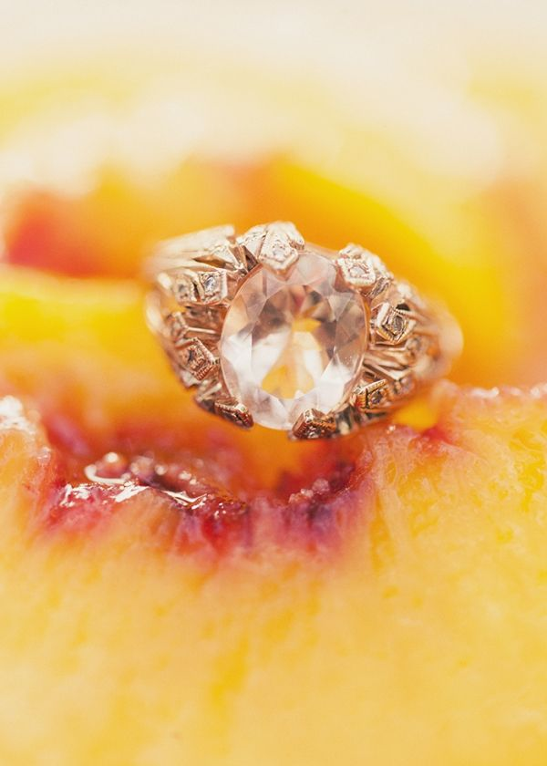 engagement ring custom designed by the bride and groom // photo by Alixann Loosl...