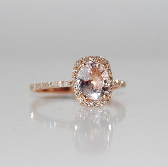 rose gold champagne sapphire engagement rings