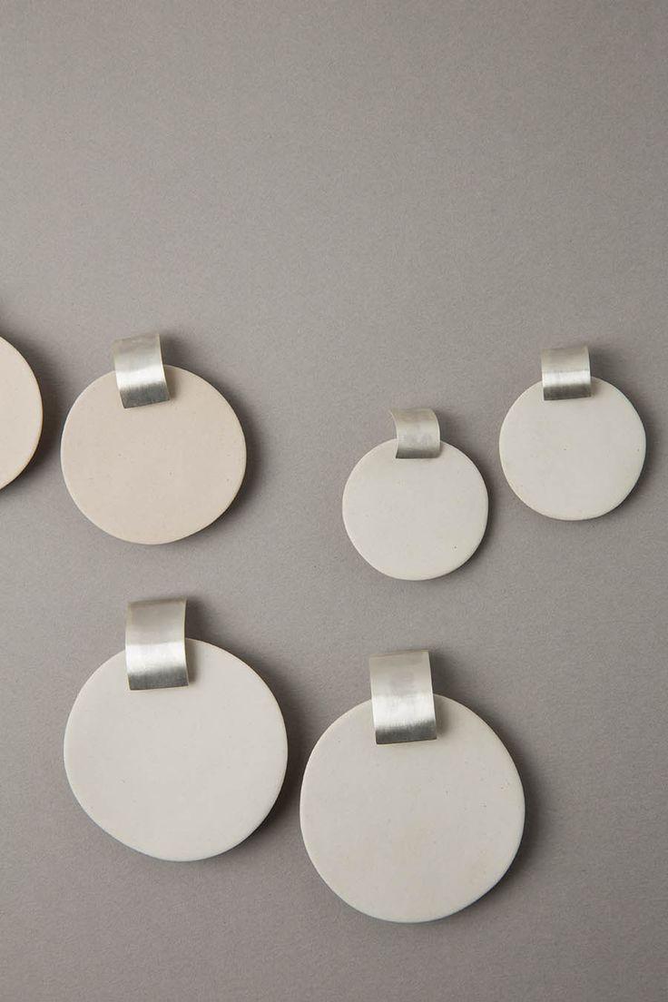 Zelda Murray Porcelain earrings - bone small