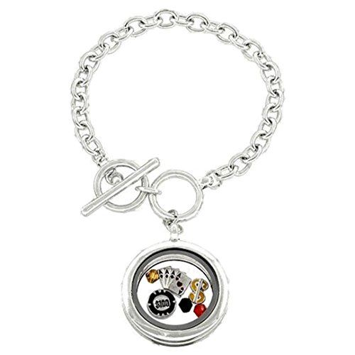 Casino Locket Bracelet C57 Toggle Clasp Recyclebabe Brace... www.amazon.com/...