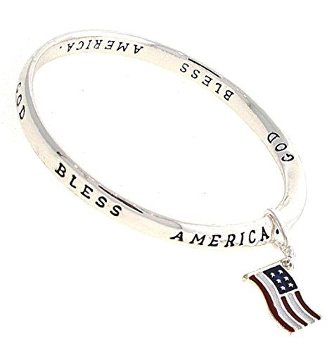 God Bless America Bracelet C31 Flag Charm USA Twisted Ban... www.amazon.com/...
