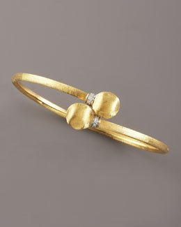 A gold bracelet is a perfect subtle accent to accessories a bright colored #alex...