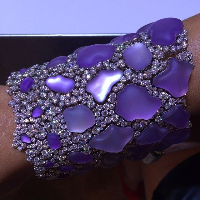 Amethyst and diamond bracelet by @chimentojewels at #couture #couture2014 #jewel...