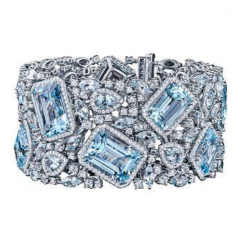 Betteridge: Robert Procop Blue Topaz & Diamond Bracelet