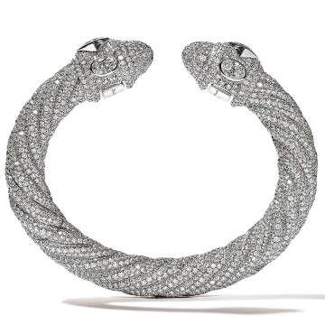 Carla Bruni Shares Bulgari Jewelry - Harper's BAZAAR- diamond snake bracelet...