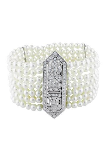 Freshwater Pearl & Diamond Bracelet.