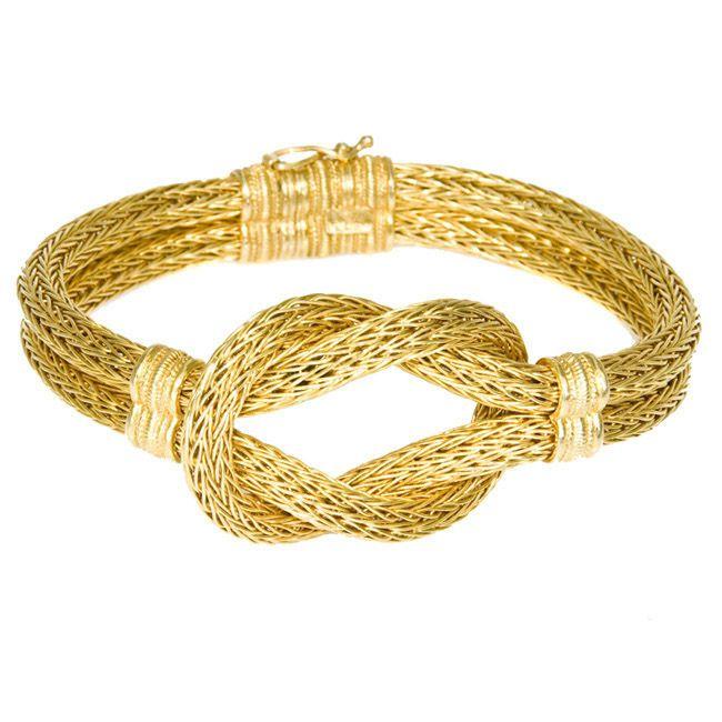 Greek woven 18k gold bracelet
