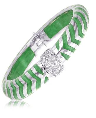 OBSESSION ALERT!  Mata Hari Jade Bracelet by Angelique de Paris