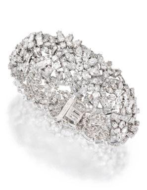 Platinum and Diamond Bracelet, David Webb - Sotheby's   More bling here: mylusci...