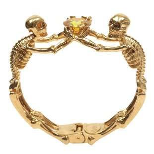 This Alexander McQueen Bracelet Contains Topaz and a Skeleton Design #halloween ...