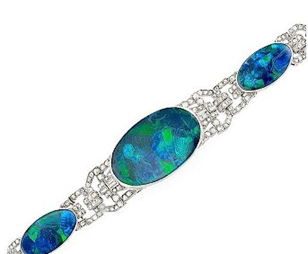 opal diamond bracelet