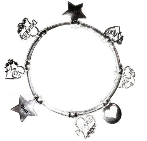 Mom Daughter Stretch Charm Bracelet D1 Heart Stars Recycl... a.co/cSJ8v0E