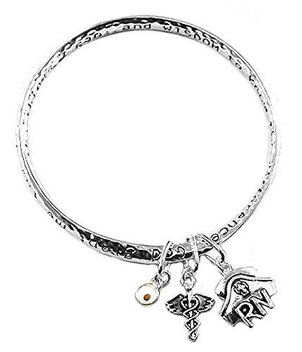 Nurse Serenity Prayer Bracelet Z9 Caduceus RN Cap Twisted…