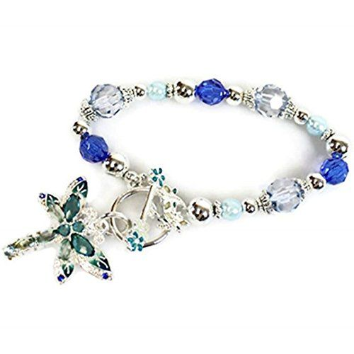 Recyclebabe Bracelets Dragonfly Charm Stretch Bracelet BK... www.amazon.com/...
