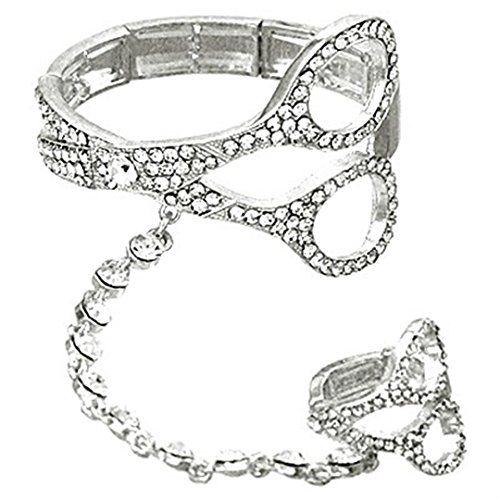 Scissor Slave Stretch Bracelet Ring Set D6 Clear Crystal ... www.amazon.com/...
