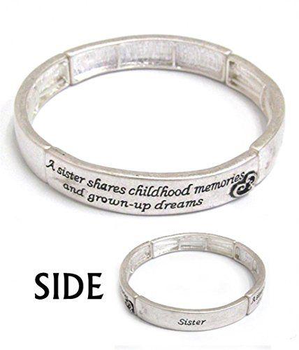 Sister Bangle Bracelet BF Stretch Inspirational Family He... www.amazon.com/...
