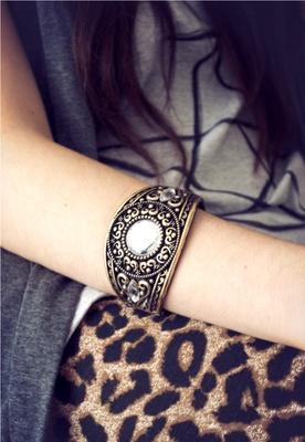 Antique Gem Bangle  #boho #jewels