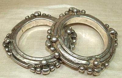 Berber Silver Bracelets worn in the Saharan countries.